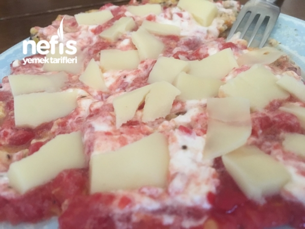 Kahvaltılık Omlet (domatesli-labneli)