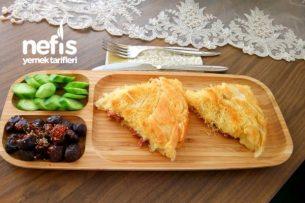 Pratik Kadayıflı Yufkalı Tava Böreği Tarifi