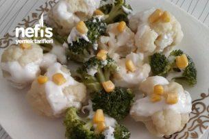 Yoğurtlu Karnabahar Brokoli Salatası Tarifi
