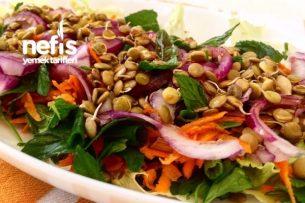 Filizlendirilmiş Yeşil Mercimekli Salata Tarifi