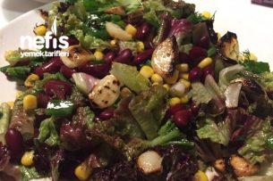 Izgara Sarımsaklı Meksika Fasulyesi Salatası Tarifi