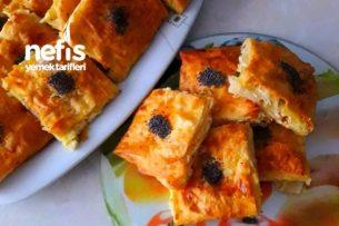 Hazır Yufkadan Peynirli Kat Kat Börek (Su Böreği Lezzetinde) Tarifi