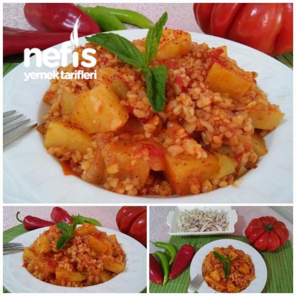 Şipşak Az Malzemeli Bulgurlu Patates Yemeği