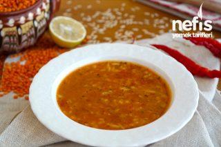 Arpa Şehriyeli Kırmızı Mercimek Çorbası Nasıl Yapılır? (Videolu)