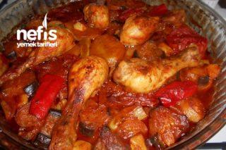 Fırında Patlıcanlı Kabaklı Tavuk Baget Tarifi