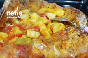 Kıymalı Lokum Patates (Fırın Torbasında) Tarifi