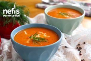Közlenmiş kırmızı biber çorbası nasıl yapılır? Tarifi