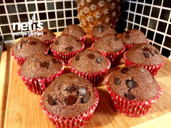 Çikolata Damlalı Muffin(lezzeti Garanti)