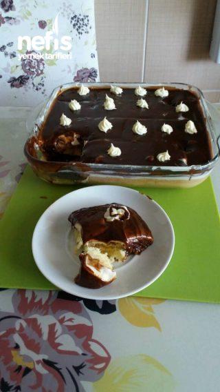 Borcamda Çikolatalı -muzlu Pasta