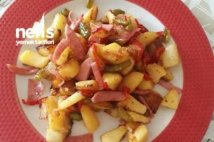 Kahvaltıya Renk Katacak Julyen Patates Tarifi