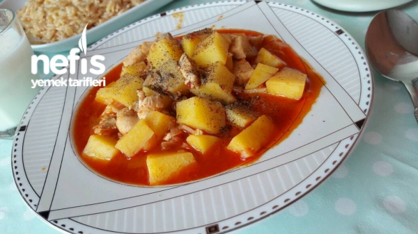 Tavuklu Patates Sulusu