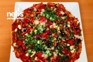 Diyet Pratik Pizza Tarifi
