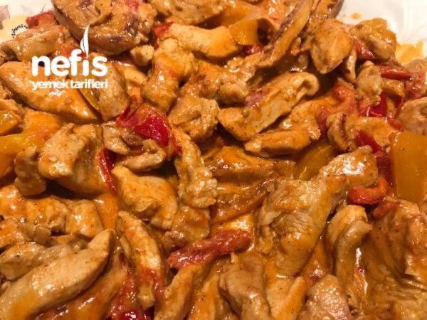 Kremalı Paprikalı Tavuk Sote