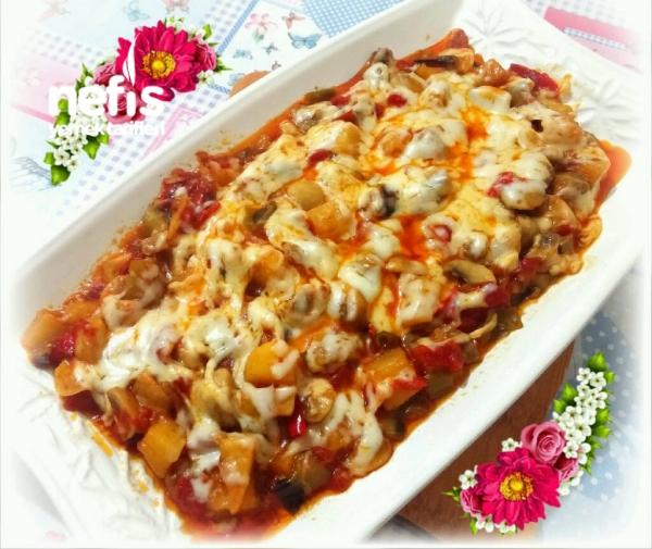 Patlıcanlı Sebzeli Mantar