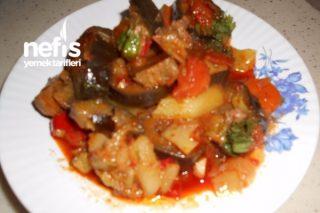Kavurmalı Patatesli Patlıcanlı Tencere Kebabı Tarifi