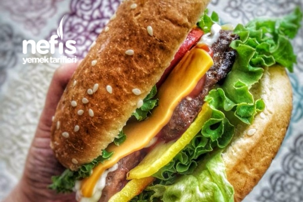 Evde Cheddar Peynirli Hamburger Tarifi