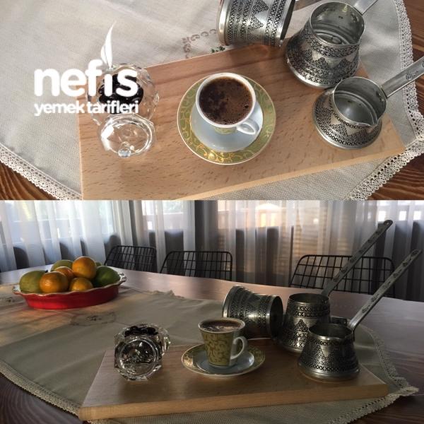 Bakır Cezvede Nutellalı Türk Kahvesi