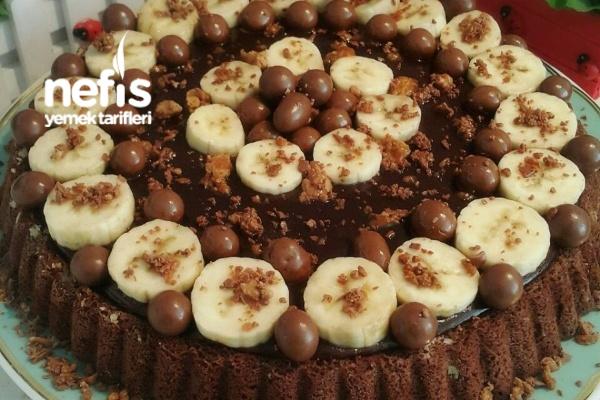 Muzlu Çikolata Kremalı Tart Kek Tarifi