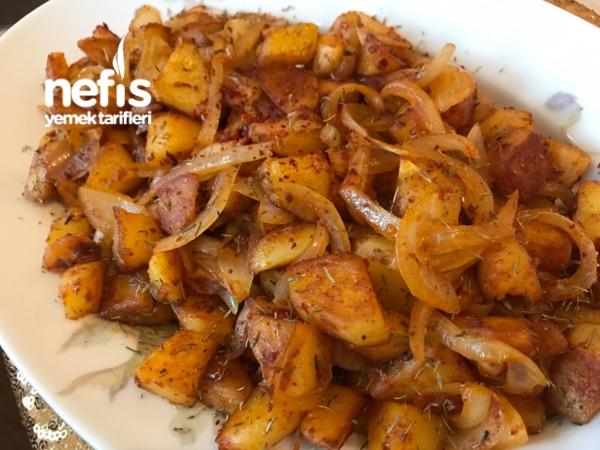 Kahvaltıya Patates Kavurması ( Haşlamadan)