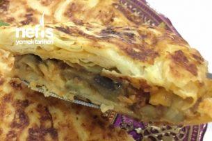 Patlıcanlı Patatesli Tava Böreği Tarifi