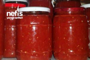 Yemeklerde Salça Yerinede Kullanılabilen Kışlık Domates Sosu Tarifi