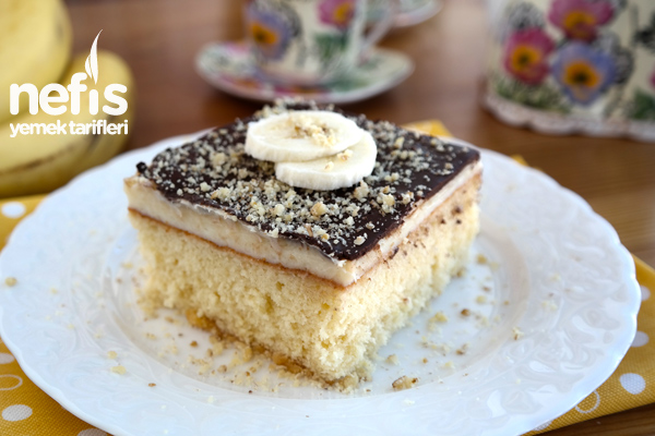 Borcamda Çikolatalı Muzlu Pasta Tarifi