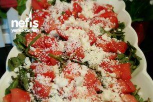Tulum Peynirli Semiz Otu Salatası Tarifi