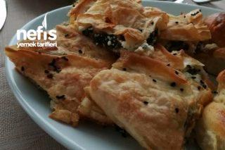 Parçalı Ispanaklı Peynirli Börek Tarifi