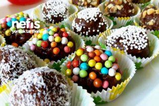 Çikolatalı Muzlu Bisküvi Topları Tarifi