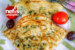 Peynirli Otlu Krep Tarifi