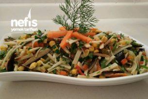 Sebzeli Erişte Makarna Salatası Tarifi
