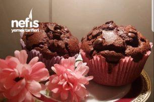 Çok Pratik Ve Lezzetli Çikolatalı Muffin Tarifi