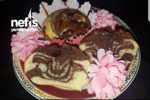 Pamuk Gibi Muffin Kalıbında Zebra Kek Tarifi