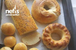 Ev Ekmeği (Değişik Kalıplarda Pişirilmiş) Tarifi