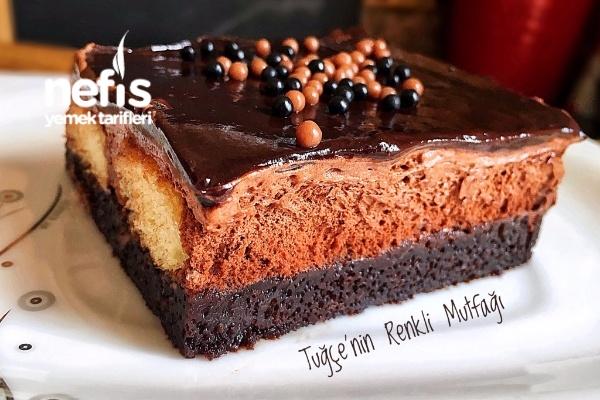 Müthiş Duble Çikolatalı Islak Kek Tarifi