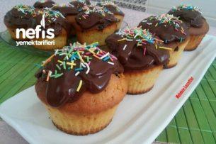Harika Pudingli Damla Çikolatalı Muffin Tarifi