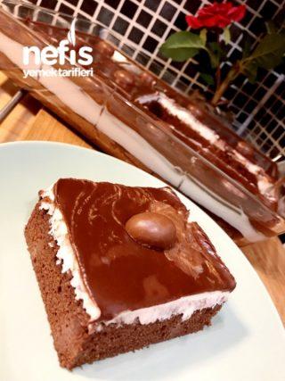 Ganaj Soslu Çikolatalı Kek(pasta Tadında)