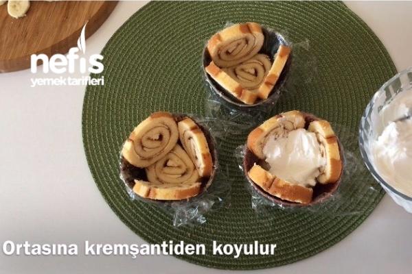 Porsiyonluk Şarlot Pasta (5 dk'da) Videolu
