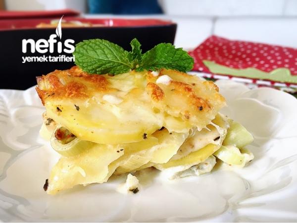 Pırasalı Patates Graten
