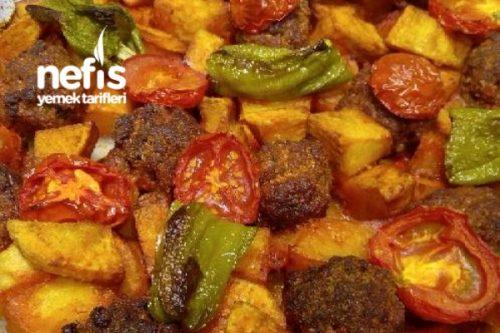 Fırında Top Köfteli Patates Tarifi