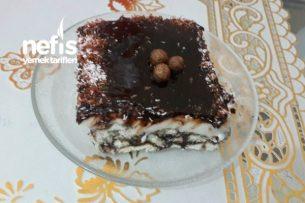 Pratik Bisküvili Tavukgögüslü Pasta Tarifi