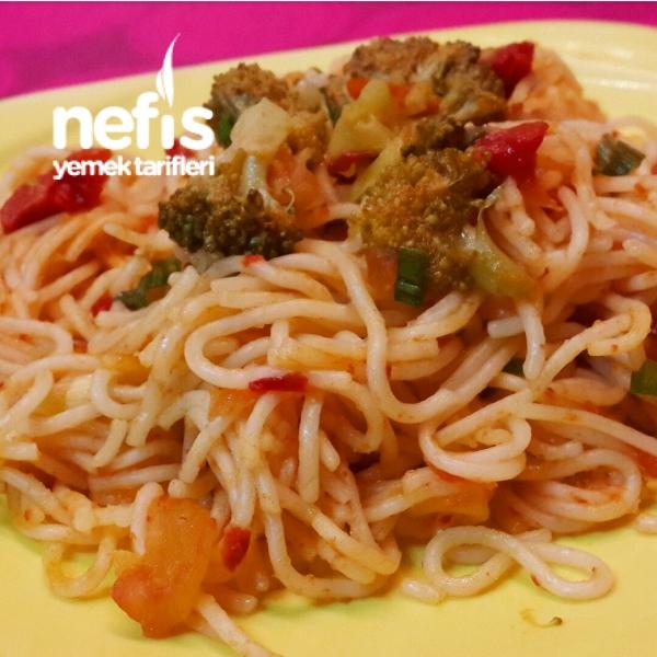 Sebzeli Italyan Spagetti