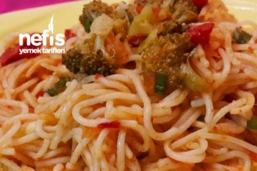 Sebzeli İtalyan Spagetti Tarifi