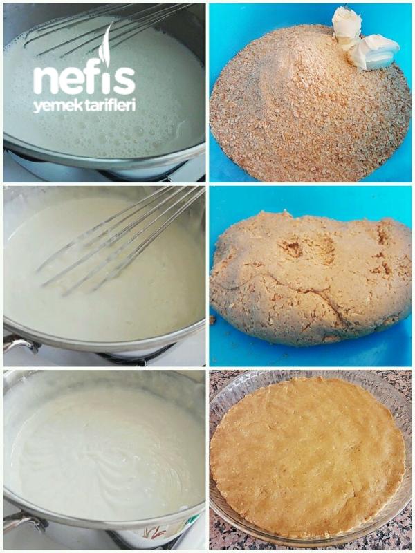 Pişmeyen Bisküvili Gelin Pastası