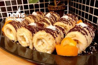 Porsiyonluk Rulo Pasta (Ceviz Ve Çikolata Soslu) Tarifi