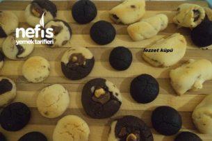 Neşeli Kurabiyeler (Kakaolu,Sade, Fındıklı Çikolatalı,Hurmalı) Tarifi