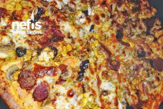 İnce Hamur Pizza (Mayalı Hamurdan Çok Basit ) Tarifi
