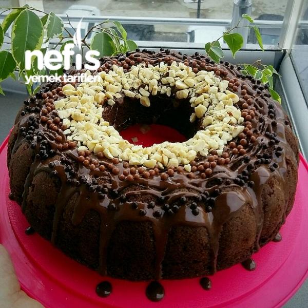 Duble Çikolatalı Pamuk Kek (Toz Pudingli)