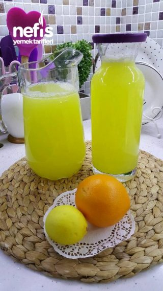 Ev Yapımı Limonata (1 Portakal 1 Limon İle)