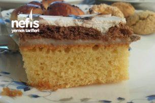 İki Krema Arası Bisküvili Pasta Tarifi